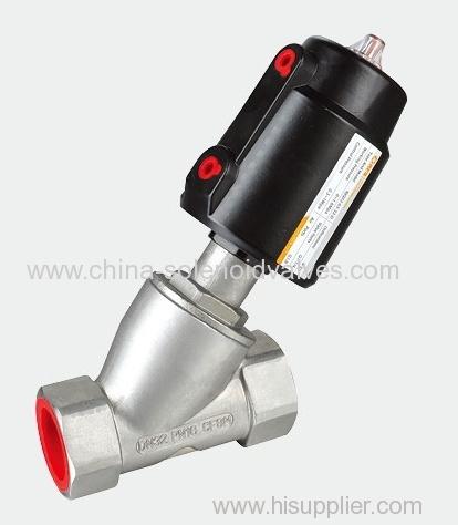 Aluminium angle seat valve