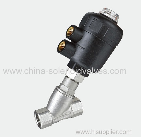 Pneumatic Plastic angle seat valve