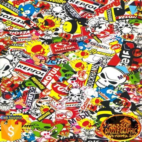 Factory Outlet Dazzle Graphic Sticker Bomb Pattern Water