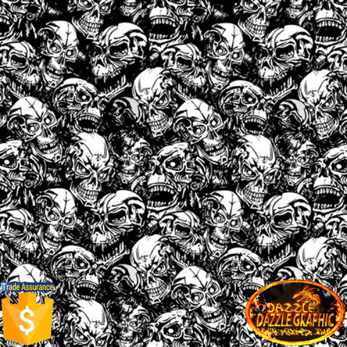 Factory Outlet Dazzle Graphic Skull Pattern Water Transfer
