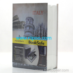 Riipoo Leaning Tower of Pisa Front Cover Book Style Safe Case Strong Metal With Lock and Two Keys Ensure Your Personal