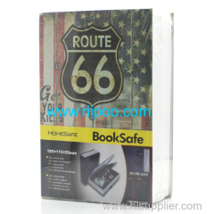 Riipoo 66 ROUTE Book Style Book M Size Diversion Hidden Book Safe With Strong Metal Case inside Have Lock and Two Keys