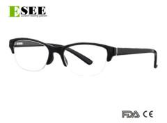 Custom semi-rimless Reading Glasses for Women