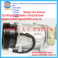 SD 7V16 car ac compressor for Citroen/Fiat/Lancia/Peugeot/Renault 9630014080 71789353
