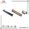 19'' 24 ports Toolless type of Cat6A UTP patch panel