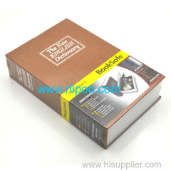 Riipoo Brown The New English Dictionary Diversion Hidden Book Safe Strong Metal Case With Lock and Two Keys