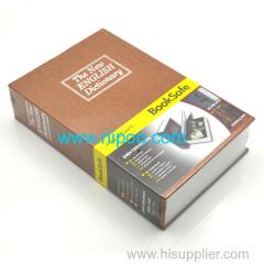 Riipoo Brown The New English Dictionary Diversion Hidden Book Safe Strong Boîtier en métal avec serrure et deux clés
