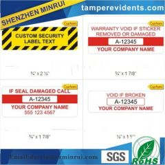 Tamper proof pre-made Tamplates Warranty void if sticker removed or damaged.Custom destructible and warranty void