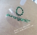Special Green Foil Self Adhesive Circle Transparent Label Sticker Custom Round Transparent Stickers