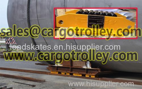 Heavy duty machinery moving skates price list