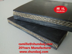 CE certificated industrial handling mining material used fabric woven EP conveyor belts