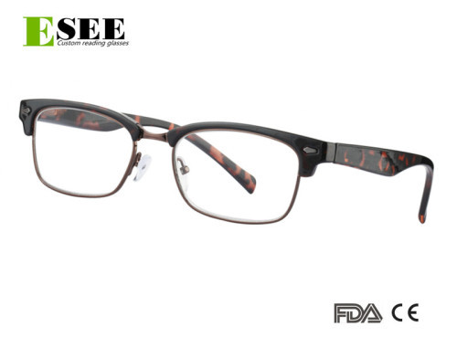 Custom Big size Prescription quality semi Reading Glasses