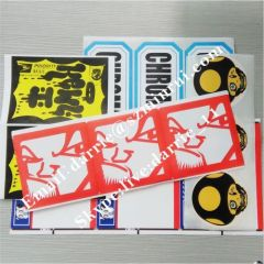 Custom any design printing color pattern for Eggshell sticker .Destructible label paper print for graffiti sticker