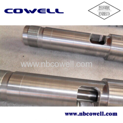 Extruder screw for pellet processing machinery