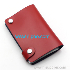 Riipoo Leather Credit Card Case Bag Holder with 9 Card Pack Slot Convenient storage the storage card