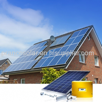 home application and normal specification on grid solar energy kit