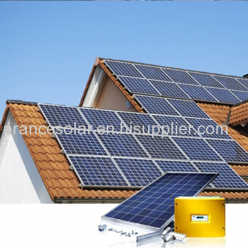 complete set on grid solar system for house use