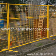 powder coated Canada temporary fence yellow PVC coated Canada temporary panel