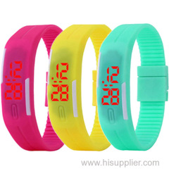Red light touch screen unisex waterproof led watch made in China