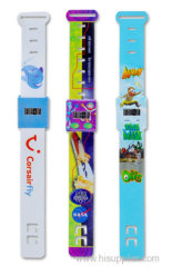 Fashion New Gift Colourful Digital Promotion Paper Watch for Kids