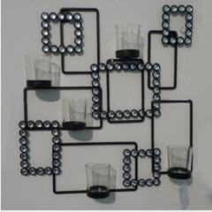 wall hanging multiple Candle holder for decorate with diamond