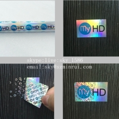 Nice Price Wholesale Security Void Hologram Label Tamper Evident Void Tags Material Minrui is the biggest factory of pro