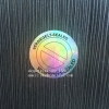 Round Plain Custom Hologram Adhesive Sticker Silver Laser Security Sticker