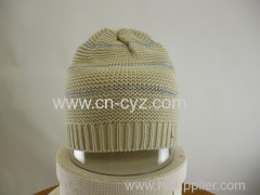Winter Beige and Silver Hats