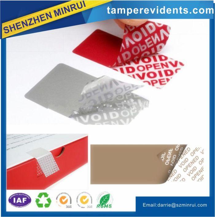 100 Custom Print Tamper Evident Gr-sq Warranty Hologram Label Stickers Seals