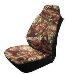 Real-tree Camouflage Printed Single Front Car Seat Cover Polyester Fabric Universal Size