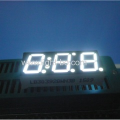 white 7 segment led display 10mm;10mm white led display;3 digit 0.39