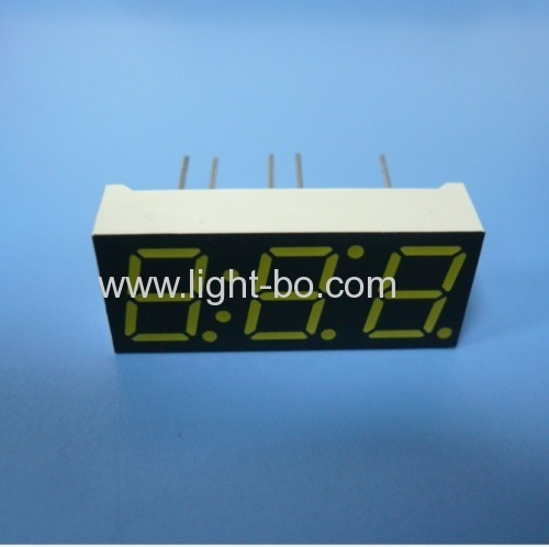 Triple digit 0.39 ( 10mm) common anode ultra white 7 segment led display for Instrument Panel