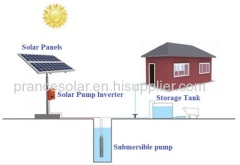 solar powered submersible water pump system