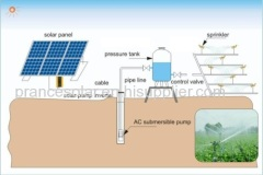 solar powered dc water pump system