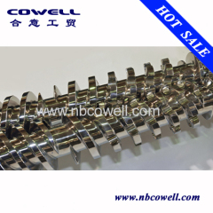 45/90 conical twin screw barrel for pvc extrusion process