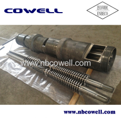 Hot sales conical twin barrel screw for LDPE processing