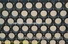 Anti - Skid Stone Gray Perforated Galvanized Sheet Metal / Perforated Metal Panels