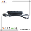 """4-way UK PDU for 10"""" cabinet"""