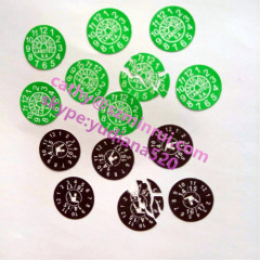 High quality round destructible seal sticker