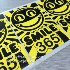 Best Selling Destructible Vinyl Eggshell Stickers Yellow Black Personalized Eggshell Sticker For Wall Decals Stickers