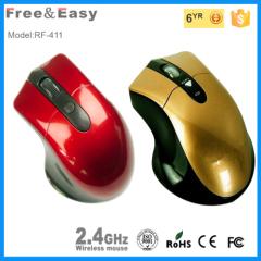 blue and arange ergonomic design wireless mouse
