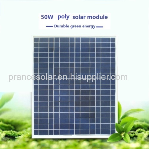 Solar panel 50w poly with good quality and price