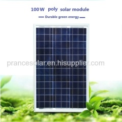 High efficiency TUV polycrystalline solar panel 100w