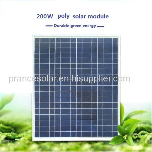 Polycrystalline Silicon Material solar panels 200 watt