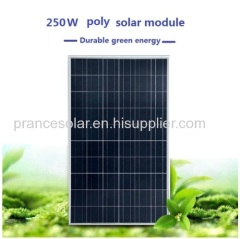 Polycrystalline Silicon Material solar panel 250w