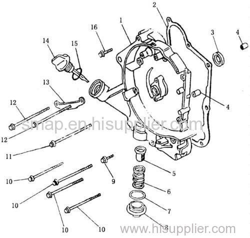Figure 4 R Crankcase Cover Comp Gy6 125cc Engine Manufacturer From