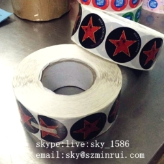 Minrui Customized Printing Self Adhesive Vinyl Rolls Round Colorful Paper Labels Sticker