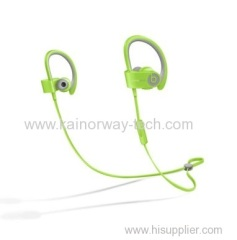 New Powerbeats2 Wireless by Dr.Dre Bluetooth Ear Hook In Ear Earbud Headphones Lime Green with Mic
