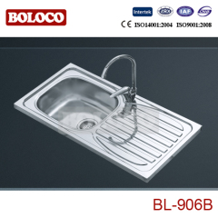 Middle East Middle&Low BA finish Single bowl Single drainer One piece rectangle/Square Sink 304# 201# BL906B