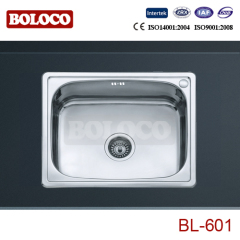 Europe Middle Polish/Satin/Ele-pearl Single bowl One piece rectangle/Square Kitchen Sink 304# BL601
